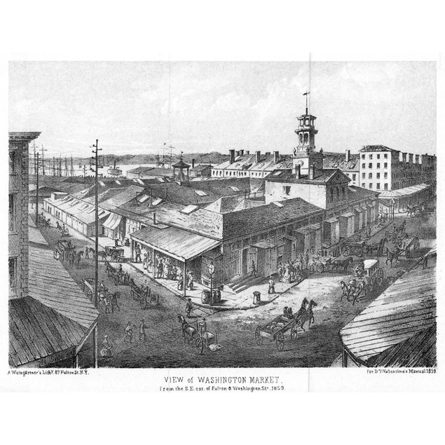 New York: Market, 1859. /Nview Of Washington Market From The South-East Cor