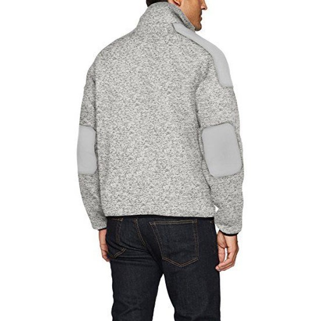IZOD Men's Zip up Sweater Fleece Jacket With Soft Shell Patches SZ MED