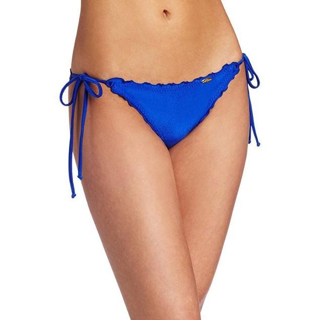 Luli Fama Women's Cosita Buena Wavey Tie Side Ruched Brazilian Bottom