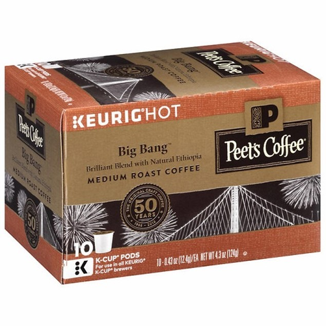 Peet's Coffee Cafe Big Bang Medium Roast Keurig K-Cups
