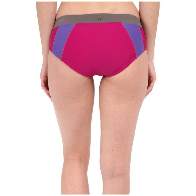 prAna Women's Zuri Bikini Bottom, Rich Fuchsia,SIZE LARGE