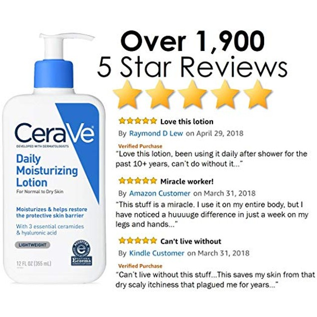 CeraVe Daily Moisturizing Lotion | 12 Ounce