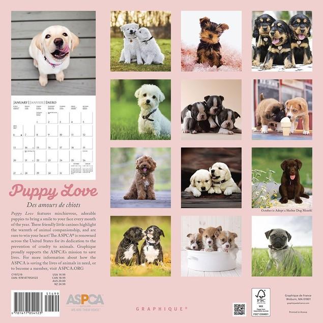 Puppy Love ASPCA Wall Calendar, Cute Puppies by Calendars