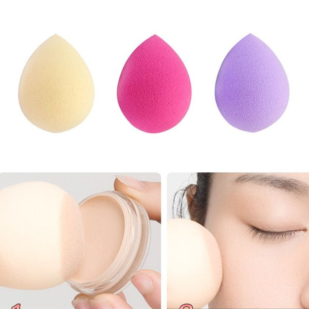 3PCS Pro Beauty  Makeup Foundation Puff Water Droplets Sponge