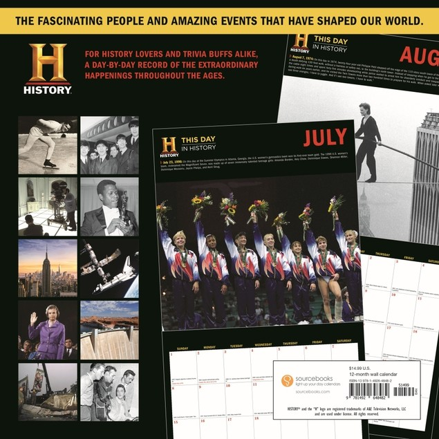 History Channel Wall Calendar, Historic Events by Calendars