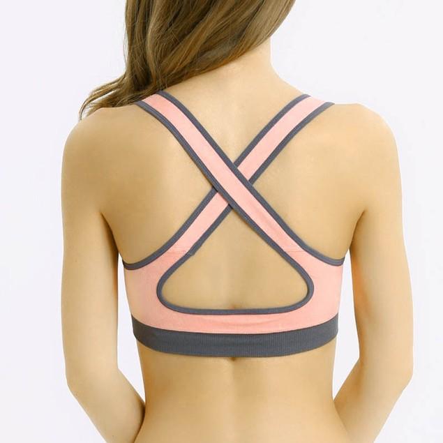 Women Padded Bra Top Athletic Vest Gym Fitness Sports Yoga Stretch