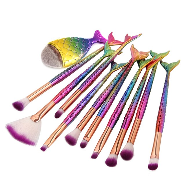 11-Piece Mermaid Makeup Brush Set