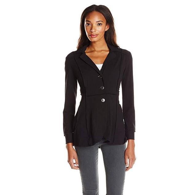NIC+ZOE Women's Seamed Riding Jacket, Black Onyx,  SZ Medium