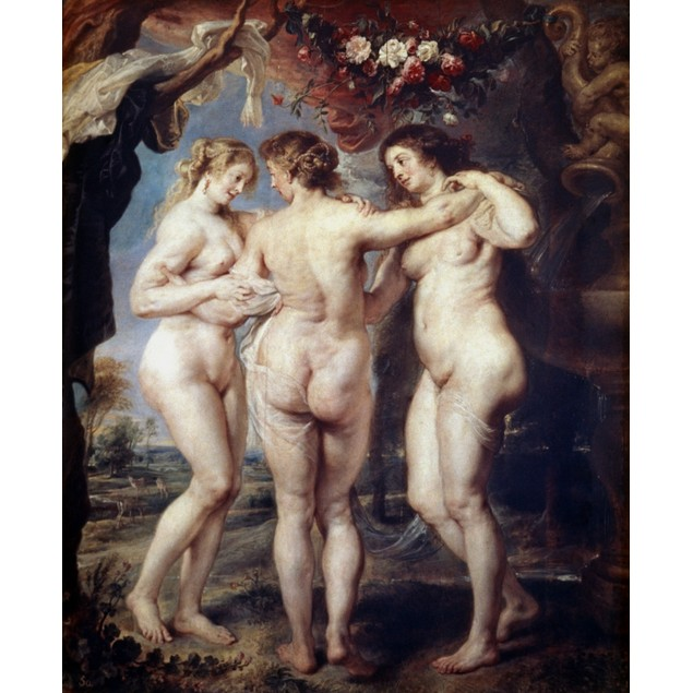 Rubens: The Three Graces. /N'The Three Graces.' Oil On Canvas By Peter Paul