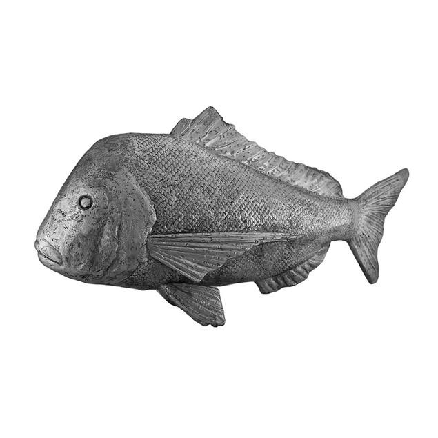The Mahi Mahi Decorative Silver Finish Dorado Fish Statues