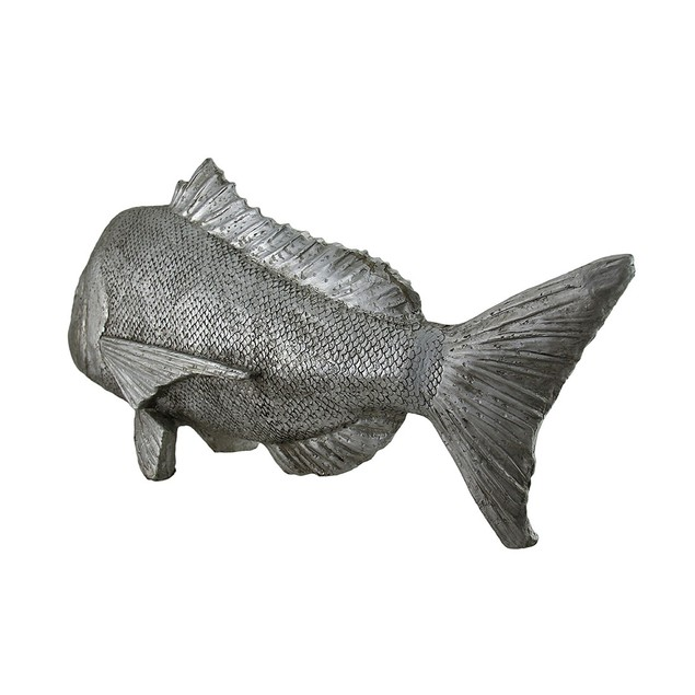The Mahi Mahi Decorative Silver Finish Dorado Fish Statues