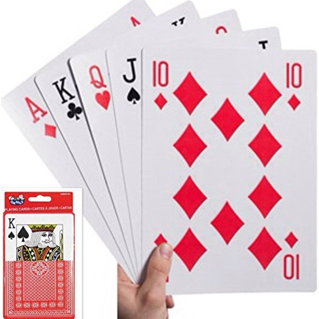 S.S. Jumbo Playing Cards Full Deck Jumbo Poker Index Playing Cards Fun