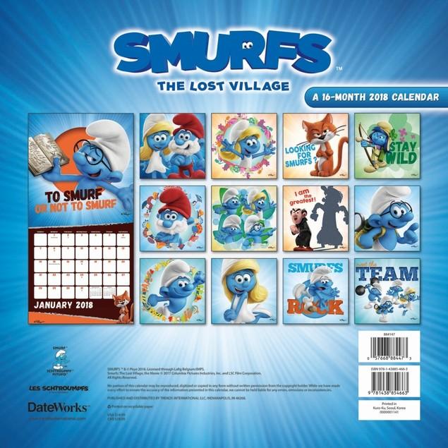 The Smurfs Wall Calendar, Weird   Interesting by Trends International