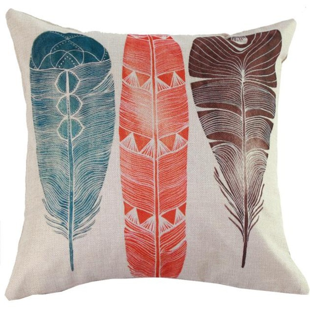 Peacock Sofa Bed Home Decor Pillow Case Cushion Cover