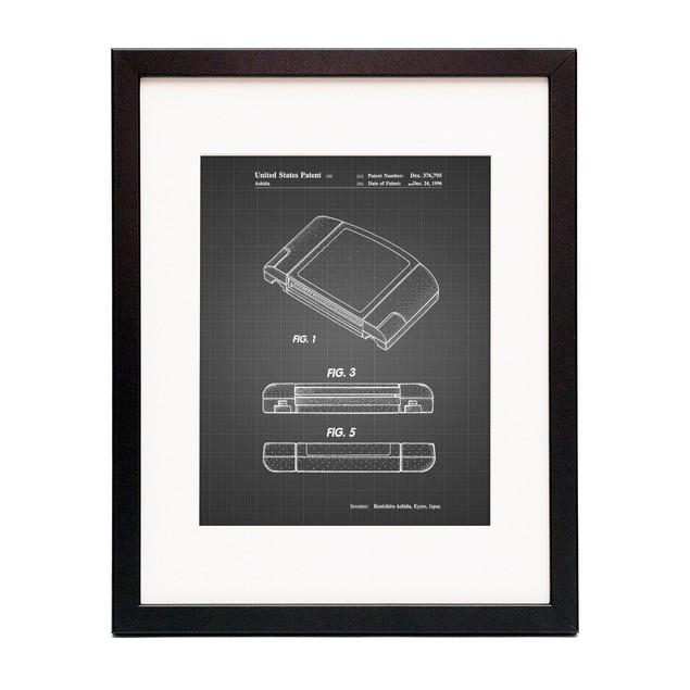 Nintendo 64 Game Cartridge Patent Poster