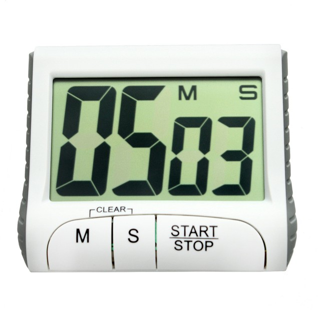 Portable Digital Countdown Timer Large LCD Screen Alarm for Kitchen Cook