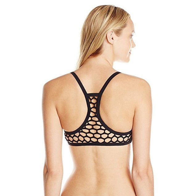 Seafolly Women's Mesh About Sports Bikini Top, Black, SZ: 4
