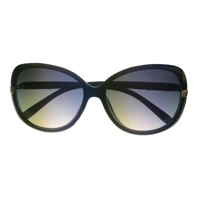Esprit Sunglass Womens Square Black Plastic Rectangle 19456 538