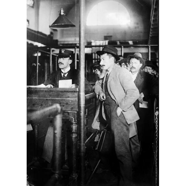 Ellis Island, C1910. /Nimmigrants Waiting To Be Processed At Ellis Island.