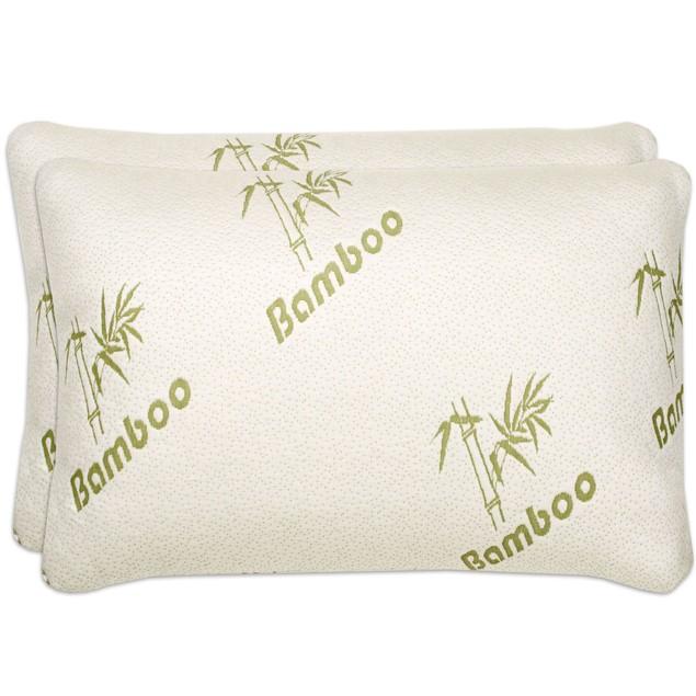 2-Pack Bamboo Memory Foam Pillows