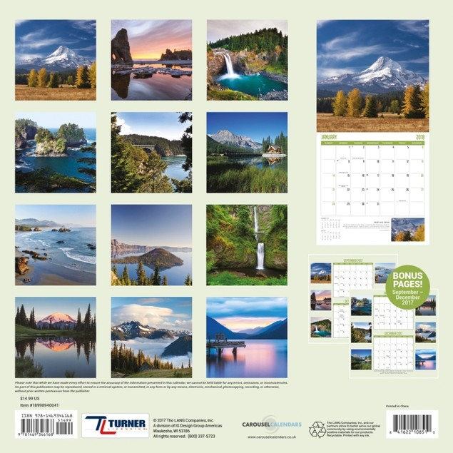 Pacific Northwest Wall Calendar, Scenic America by Avalanche Publishing