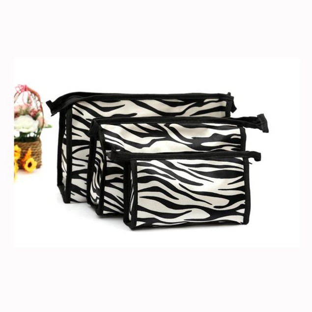 3pcs  Cosmetic Toiletry  Travel Wash Makeup Bag Holder Pouch Kits Set