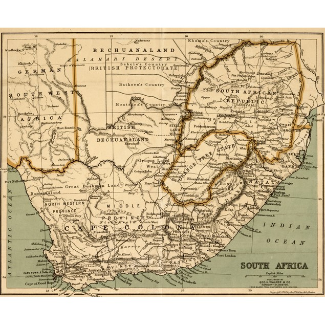 South Africa - 1899 Poster