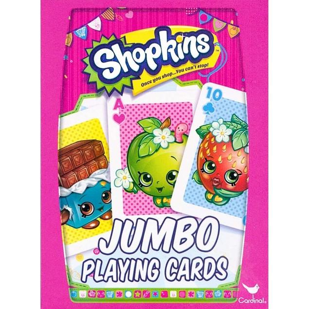 Shopkins Jumbo Card Deck, Family Games by Cardinal