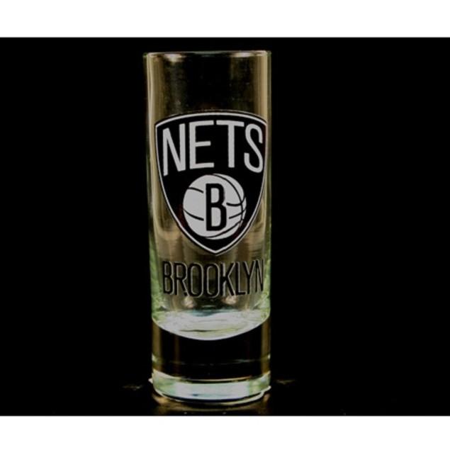 "Brooklyn Nets NBA ""Hype"" Tall Shot Glass"