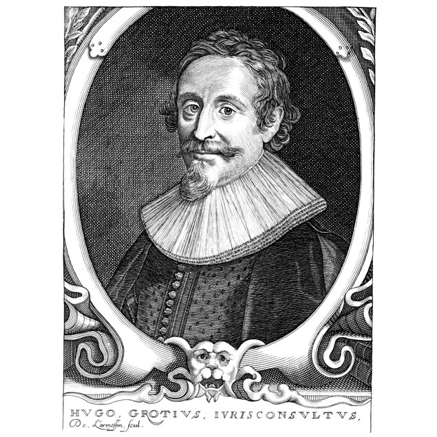 Hugo Grotius (1583-1645). /Ndutch Jurist And Statesman. Copper Engraving, B