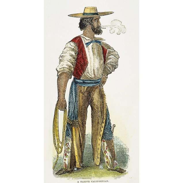 Spanish Settler, 1852. /Nan Early Spanish Settler In California: American,