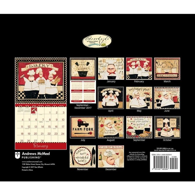 Home In The Kitchen Wall Calendar