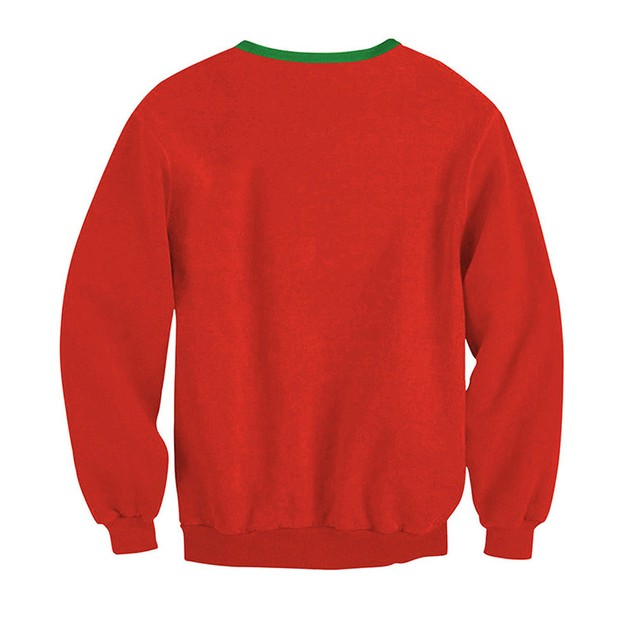 Women Long Sleeve Pullover Sweatshirt Christmas Print T-Shirt Tops C