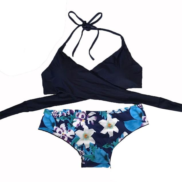 Women Bikini Set Swimwear Push-Up Padded Bra Swimsuit Beachwear