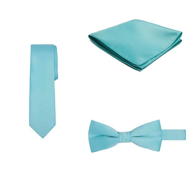Jacob Alexander Regular Necktie Bowtie Pocket Square Matching 3 pc Set