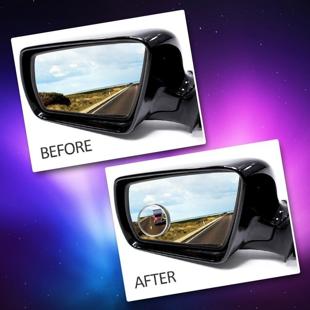 """Zone Tech 2"""" Round Rear-view Blind Spot Convex Wide Angle Mirrors"""