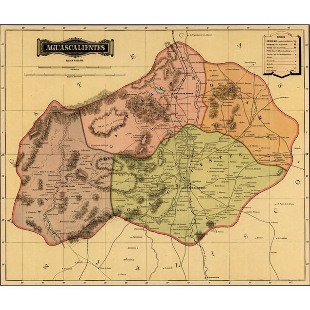 Aguascalientes - 1844 Poster