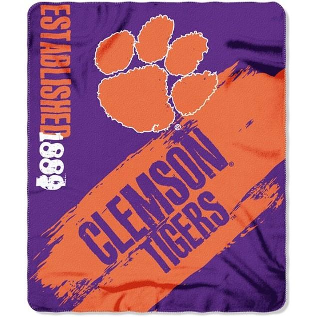 Clemson Tigers NCAA Northwest Fleece Throw