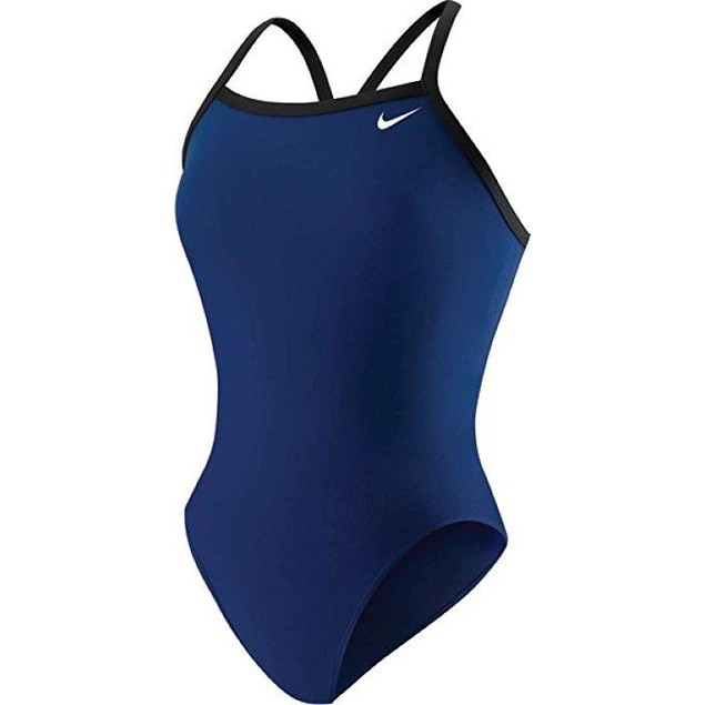 Wmns Nike Poly Core Solid Classic Tank Swimsuit SZ 24 Midnight Navy