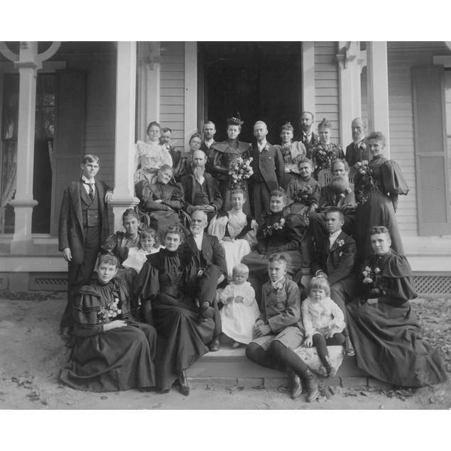 Wedding Party, C. 1885. /Nan American Wedding Party. Poster