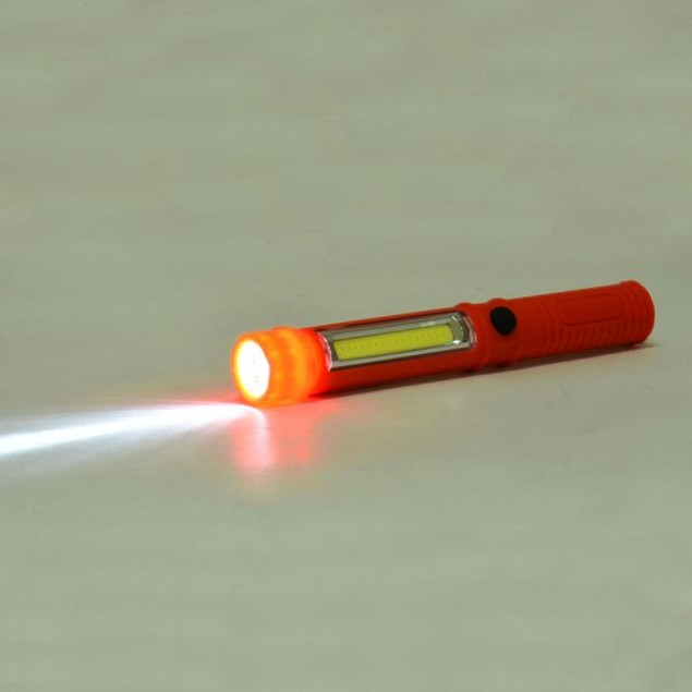 LED Pocket Pen Light Inspection Work Light Magnetic Torch Flashlight