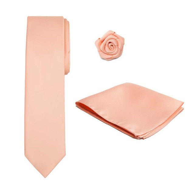 Men's XL Tie Hanky Open Rose Lapel Flower 3 pc Set