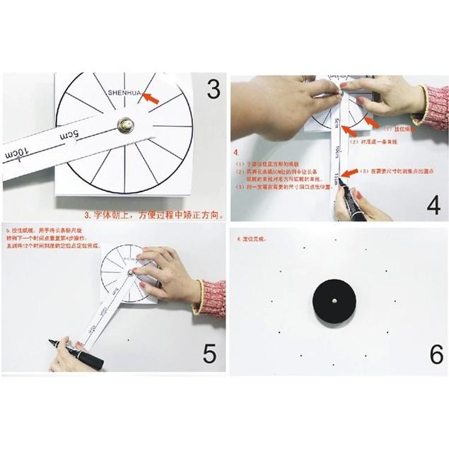 DIY Sticker Wall 3D Clock - Music Notes