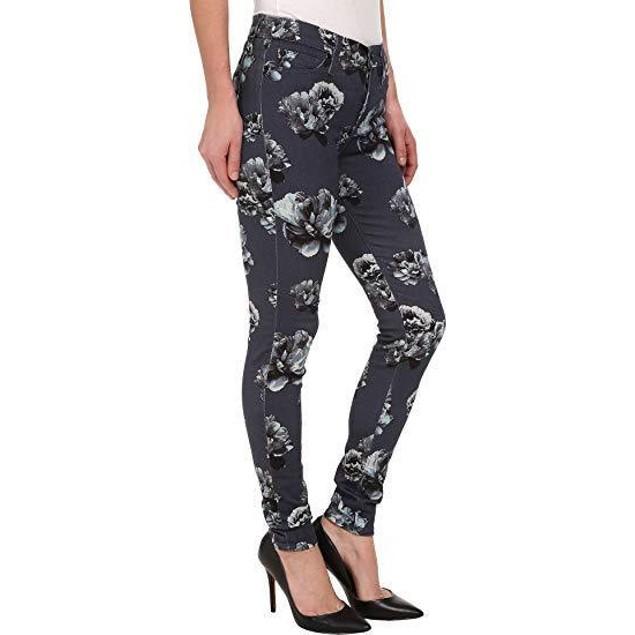 Hudson Women's Nico Mid Rise Super Skinny Jeans, Venice Bloom SIZE 26
