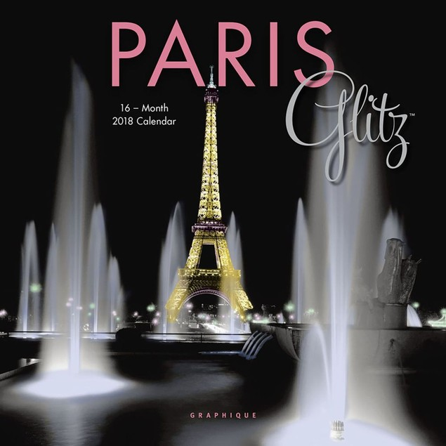 Paris Glitz Mini Wall Calendar, France by Calendars