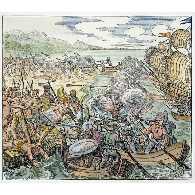 Amerigo Vespucci (1454-1512). /Nitalian Navigator On His First Voyage To Th