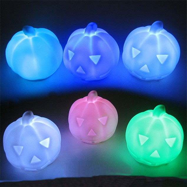 Hallowmas  Pumpkin Color Changing LED Light Lamp Home Decoration