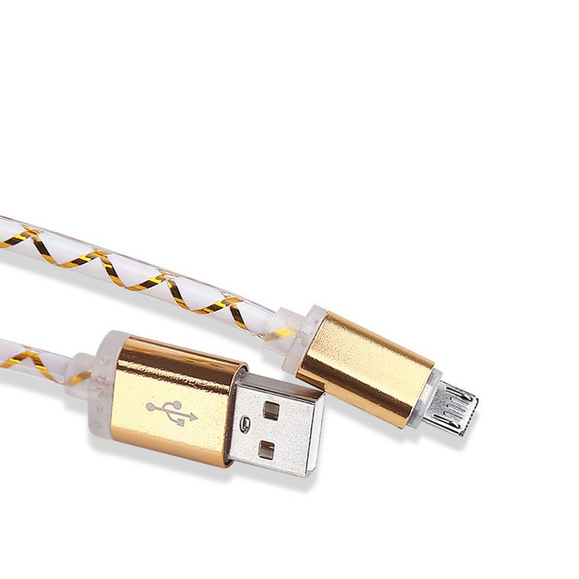 LED Micro USB Charger Cable Charging Cord