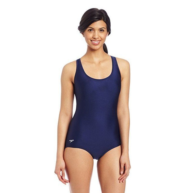 Speedo Women's Aquatic Moderate Ultraback Swimsuit, Navy, 10