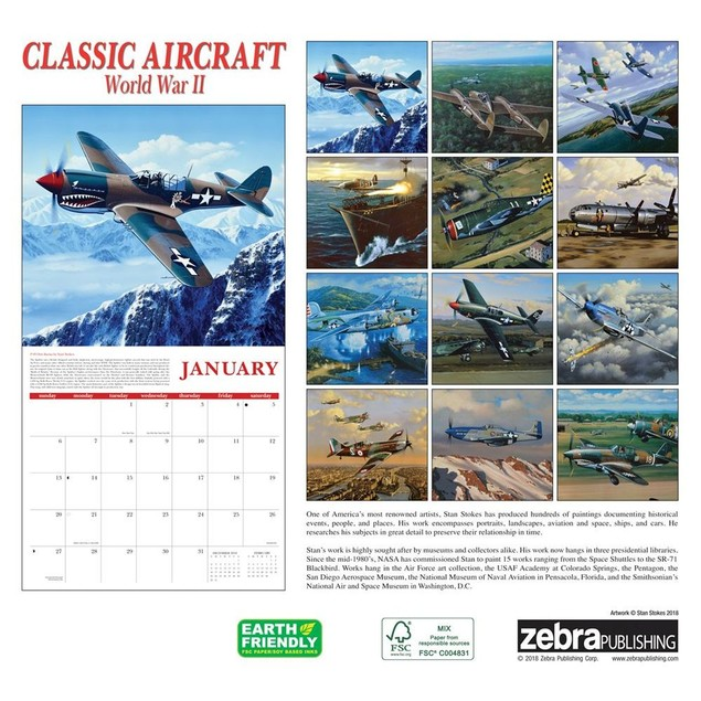 Classic Aircraft of WWII Wall Calendar, Airplanes by Calendars